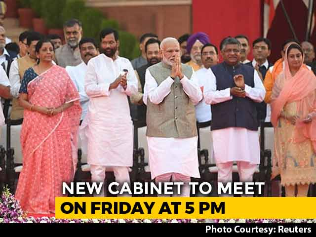 Video : PM Modi's New Cabinet To Meet This Evening, Suspense Over Portfolios