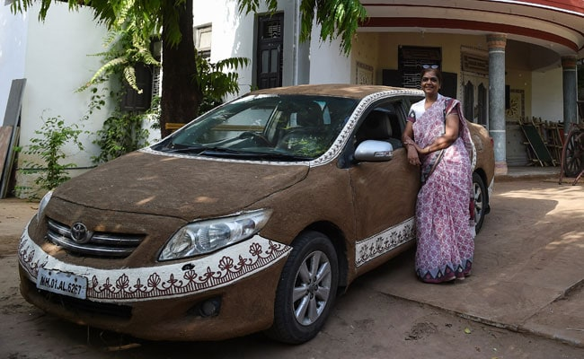 Woman Who Coated Cow Dung On Car Uses Horse-Cart For Short Distances
