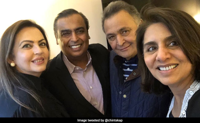 Mukesh Ambani And Nita Ambani Dropped By To See Rishi Kapoor In New York