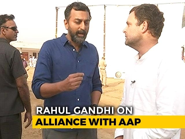Video : Rahul Gandhi To NDTV On Why AAP Alliance Collapsed