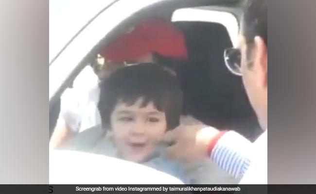 तैमूर अली खान के गालों को छू रहा था शख्स, गुस्से में 'छोटे नवाब' ने यूं लिया बदला- देखें Video