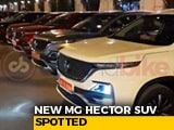Video : Upcoming MG Hector SUV Spotted