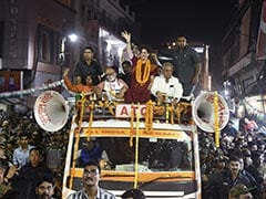 Priyanka Gandhi's Big Roadshow In Varanasi With PM Modi's Poll Opponent