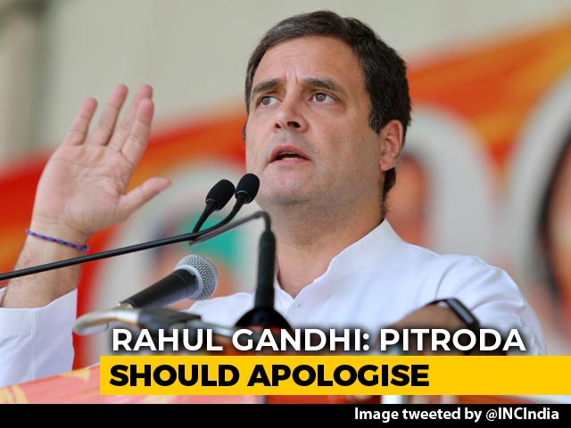 "Video : ""1984 A Terrible Tragedy, Sam Pitroda Was Out Of Line,"" Says Rahul Gandhi"