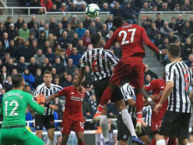 Image result for Liverpool Strike Late To Beat Newcastle, Regain Premier League Lead