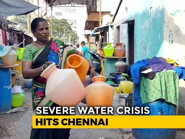 Video : Chennai's Piped Water Supply Cut By 40 Per Cent Amid Severe Water Crisis