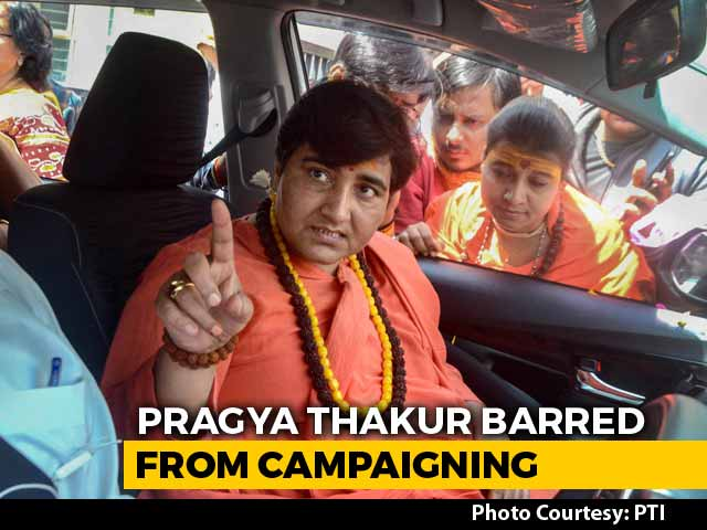 Video : Pragya Thakur Barred From Campaigning For 3 Days Over Babri Masjid Remark