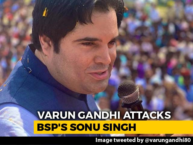 "Video : ""Such People Untie My Shoelace"": Varun Gandhi Attacks Mother's Opponent"