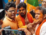 Video : BJP Supporters Celebrate Outside Party Office In Kolkata