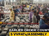 Video: Top Court Rejects Opposition's Request To Increase EVM Paper Trail Count