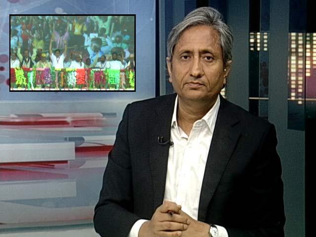Video : On Ravish Kumar's Show: Nitish Kumar's Telling Silence On <i>Vande Mataram</i>