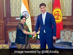 Sushma Swaraj Discusses Ways To Boost Ties With Kyrgyz President
