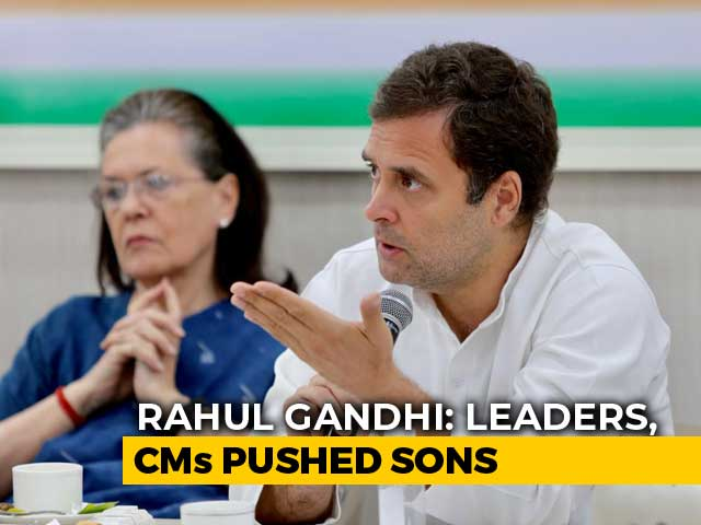 Rahul Gandhi's Plain-Speak To Congress Leaders Who 'Pushed' Sons: Sources
