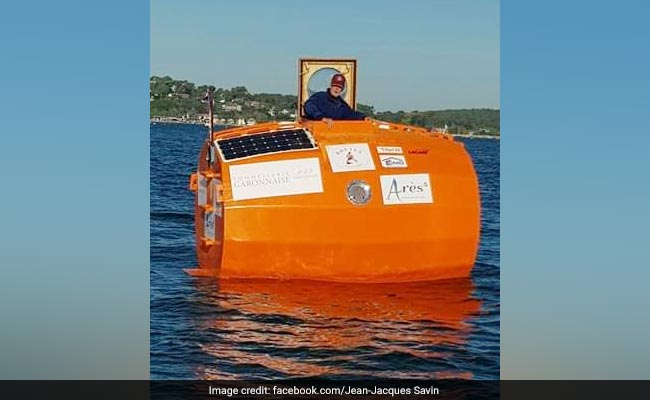 French Adventurer Ends 127-Day Trip Across Atlantic Ocean In Huge Barrel