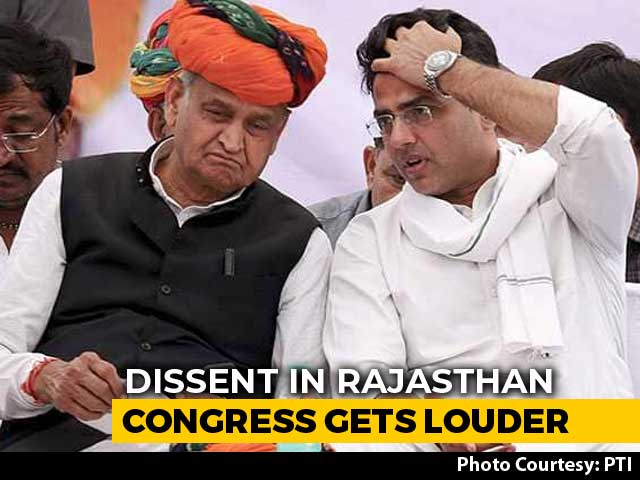 "Video : Rajasthan Congress Dissent Goes Public With ""Remove Ashok Gehlot"" Call"