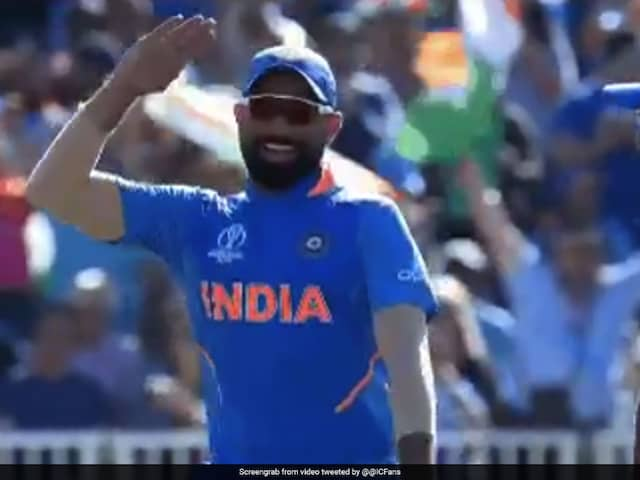Watch: Mohammed Shami Mimics Sheldon Cottrells Salute Celebration In World Cup Match Against West Indies