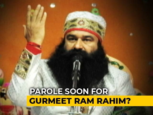 "Video : Gurmeet Ram Rahim Seeks Parole, Jail Chief Praises Him For ""Good Conduct"""