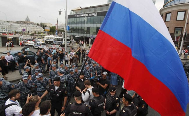 Russia Police Detain More Than 400 At Moscow Journalist Protest