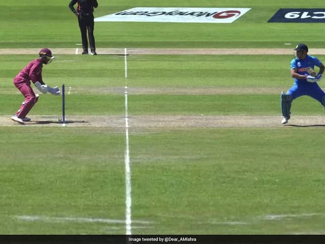 Twice Off The Same Delivery Shai Hopes Comedy Of Errors And MS Dhoni Escapes Stumping