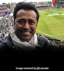 'Come On India': Leander Paes Cheers For Team India From The Stands