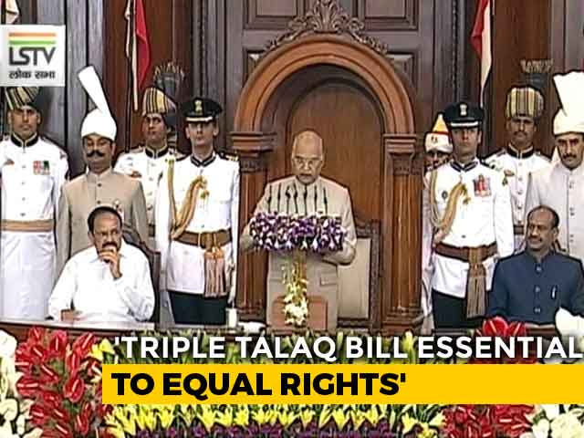 Video : Removing Triple Talaq Essential To Equal Rights For Women, Says President
