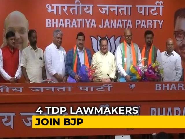 Video : In Boost For BJP In Rajya Sabha, 4 Lawmakers Of TDP Switch Parties