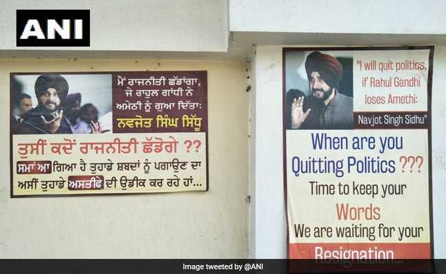 'When Are You Quitting Politics?': Posters In Punjab Ask Navjot Sidhu
