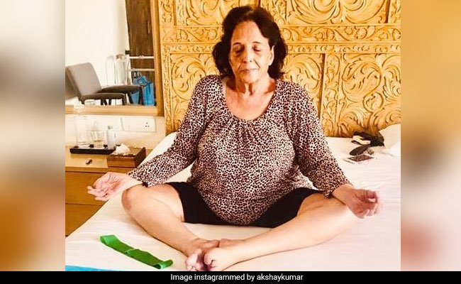 Akshay Kumar Shares Something He's 'Extremely Proud Of,' Pic Of His Mom Aruna Bhatia Practicing Yoga