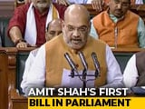 Video : Amit Shah's First Bill In Parliament Today On Jammu And Kashmir Quotas