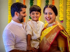 Pics From Sameera Reddy's Baby Shower With Husband Akshai And Son Hans