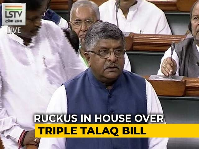 Video : Triple Talaq Bill Back: Government, Opposition Clash Again