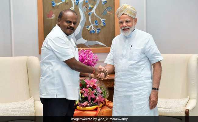 HD Kumaraswamy Meets PM Modi, Seeks Funds To Tackle Drought