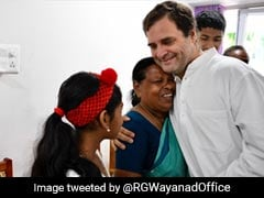 In Wayanad, Rahul Gandhi Hugs Nurse Who Was Present When He Was Born