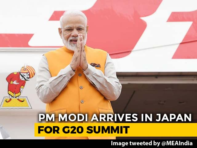 Video : PM Modi Arrives In Japan For G20 Summit, To Meet Leaders Including Trump