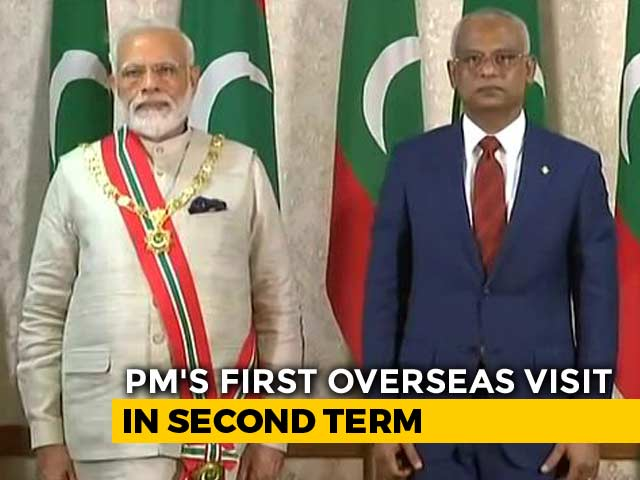 "Video : PM Modi Gets Maldives' Highest Honour ""Rule of Nishan Izzuddeen"""