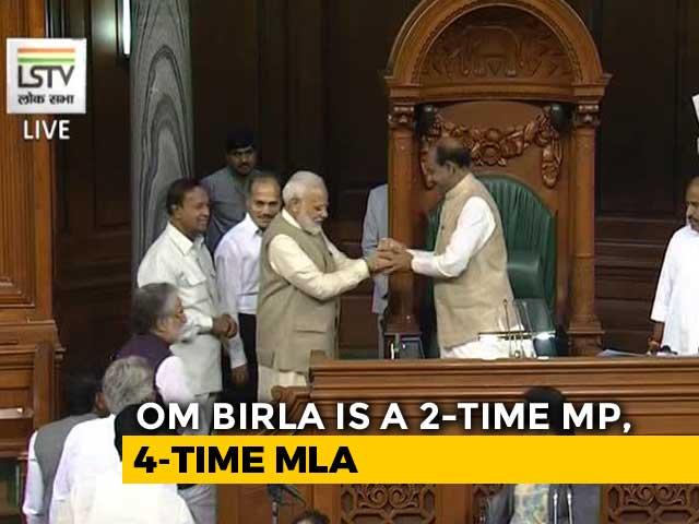 Video : BJP's Om Birla Elected Lok Sabha Speaker, PM Modi Leads Him To Chair