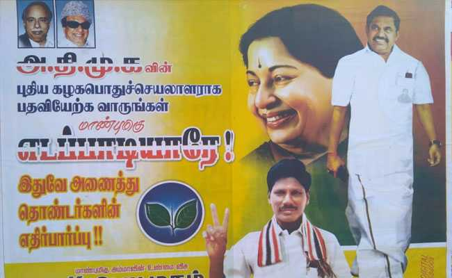 Posters In Tamil Nadu Bring Up Leadership Tussle Between State's Top 2