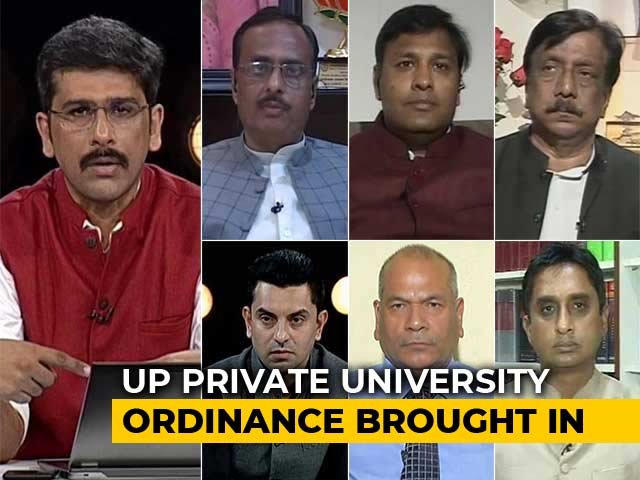 "Video : In UP Ordinance, No ""Anti-National Activity"" In Private Universities"