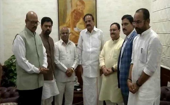 In Setback For Chandrababu Naidu, 4 Lawmakers Of His Party Join BJP