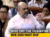 "Video : ""One-Third Of J&K Not With Us"": Amit Shah Blames Nehru, Congress Protests"