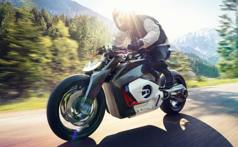The BMW Vision DC Roadster previews the future of a dynamic naked, electric bike from the manufacturer