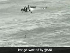 Watch: Coast Guard Helicopter Rescues Man From Drowning Off Goa