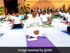 Lok Sabha Speaker Om Birla Leads Yoga Day Event At Parliament