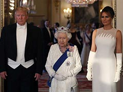 Melania Trump Glows In Floor Length Gown At Queen's State Banquet