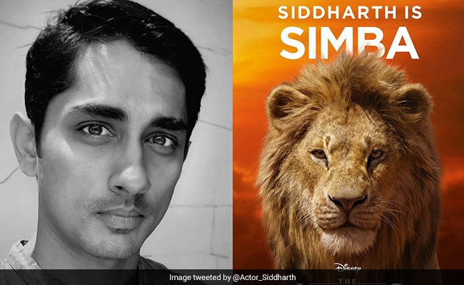 Siddharth To Voice Simba In The Lion King's Tamil Version