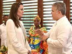 Angelina Jolie Meets Colombian President Over Venezuelan Migrant Kids