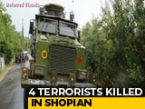 Video : 4 Terrorists Shot Dead In Encounter In Jammu And Kashmir's Shopian