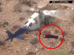 Video: Chopper Rescue Of 74-Year-Old Woman Turns Scary As Stretcher Spins