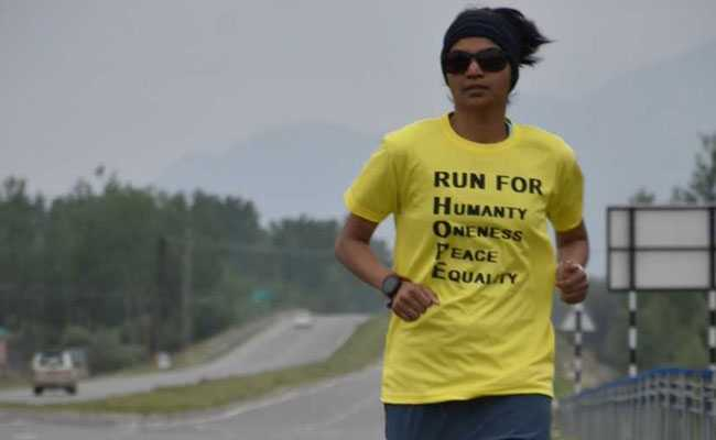 She's Running From Kashmir To Kanyakumari In 100 Days With A Mission