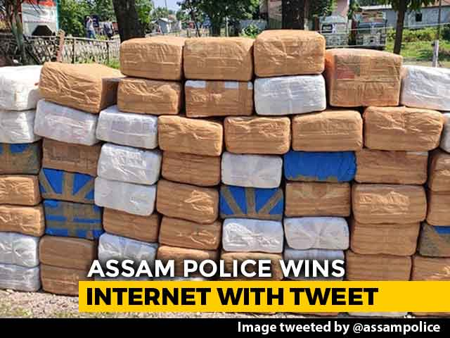 "Video : ""Lost 590 kg Ganja? Don't Panic, Get In Touch,"" Tweets Assam Police"